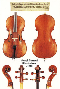 1710 Giuseppe Guarneri 'filius Andrea', now owned by Bridgewater Trust, Canterbury, New Zealand