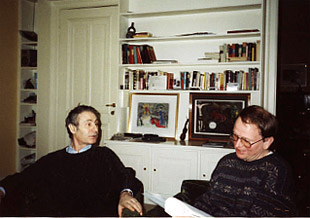 with Alfred Schnittke,in Hamburg, 1991