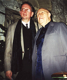 With Mstislav Rostropovich in London. 2001