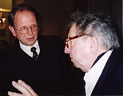 With Henri Dutilleux. Amsterdam, 2003