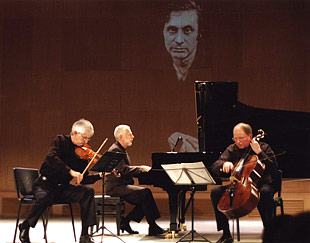 With Vladimir Feltsman and Oleh Krysa at the Schnittke Festival in Moscow, 2004