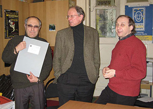 With Faradzh Karaev and Vladimir Tarnopolsky in Moscow, 13.02.2007